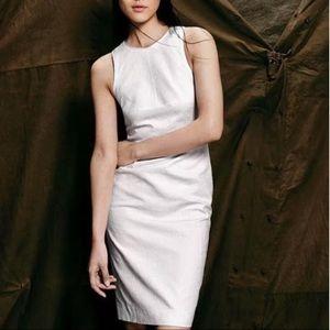 J. Crew Matelasse Textured White Sheath Dress
